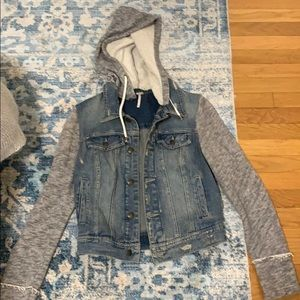 Distressed denim free people jacket